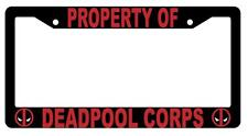 Black Property of Deadpool Corps License Plate Frame Auto Accessory Deadpool