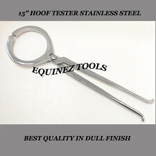 "Hoof Tester, Large 15"", Hand Crafted, Stainless Steel, Farrier Horse"