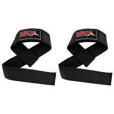 Bar Straps Weight Lifting Power Gym Training Wrist Support Bandage Padded Black