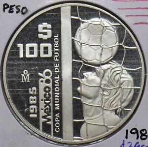 Mexico 1985 100 Peso Eagle Proof football 490895 combine