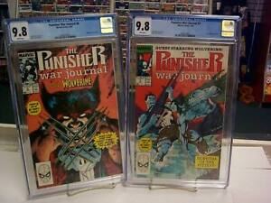 PUNISHER WAR JOURNAL #6-7 CGC Graded 9.8 SET ~ JIM LEE WOLVERINE ~ White Pages