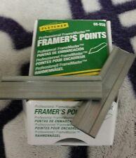2 framer's points use  for picture framing backing / black gun