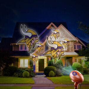 NEW NFL TEAM PRIDE MINNESOTA VIKINGS LOGO INDOOR OUTDOOR PROJECTION LIGHT.
