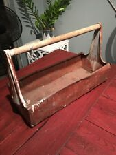 Vintage 1950's Craftsman Carryall Tool Box Tote Well Used Great Character Decor
