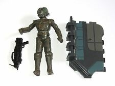 STAR WARS Empire Strikes Back Bounty Hunter Toy Figure  4-LOM with Display Stand