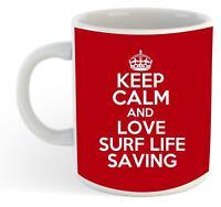 Keep Calm And Love Surf Life Saving  Mug - Red