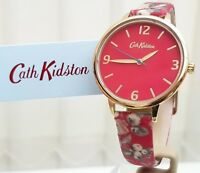 New CATH KIDSTON Watch Garden Rose Red strap Ladies Watch RRP £79 ! (c5)