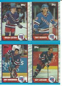 1989-90 Topps New York Rangers Team Set
