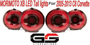 MORIMOTO XB RED Sequential LED Tail lights Set of 4 Fits 2005-2013 C6 Corvette