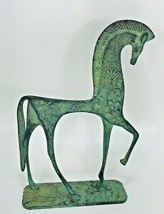 Bronze Etruscan Horse Statue Weinberg Mid Century Modern Il Cesello Italy Decor