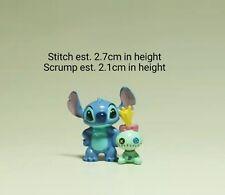 2Pcs Disney Stitch Scrump MINI Action Figures PVC Collection Set Decor Ornament