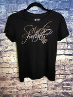 NFL Team Apparel New Orleans Saints Football Black Graphic Print T Shirt Size M