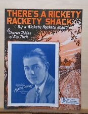 There's A Rickety Rackety Shack - 1927 sheet music - Morton Downey cover photo