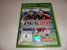 Xbox 360 pro evolution soccer 2010