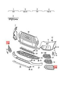 Genuine AUDI Q3 8UG Air Guide Grille Black-Glossy 8U0807682KT94