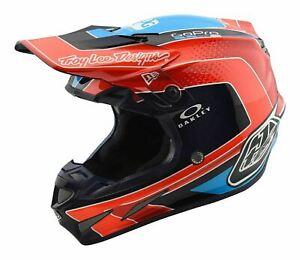 TLD Motocross Helmet SE4 Carbon Adult Squadra Team Orange MIPS