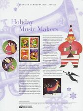 #697 37c Holiday Music Makers B4 #3821-3824 USPS Commemorative Stamp Panel