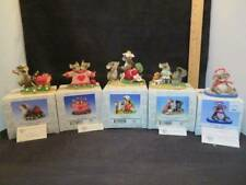 Fitz and Floyd Charming Tails Lot of 5 Figurines with Boxes Mice