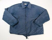 Vintage KMART Mens Blue Warm Up Jacket Water Repellent Sz M 80's