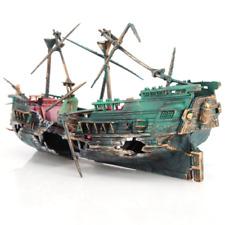 New Large Aquarium Decoration Boat Ship Air Split Shipwreck Fish tank decoration