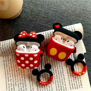 Cute Mickey Minnie Wireless Bluetooth Silicone Case For Apple Airpods Protective