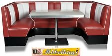 HW-120/120 Ruby American Dinerbank Sitzbank Diner Bänke Eckbank Retro USA Style