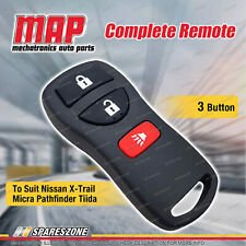 MAP Complete 3 Button Remote for Nissan X-Trail T30 T31 Micra Pathfinder Tiida