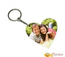 Heart Shape Wooden Key Chain Personalized with your Photo Keychain Birthday Gift