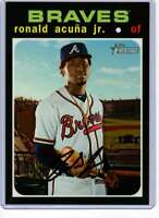 Ronald Acuna Jr. 2020 Topps Heritage 5x7 #464 /49 Braves