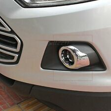 For Ford Ecosport 2013-2016 ABS Chrome Front Foglights Lamp Foglights Cover 2pcs