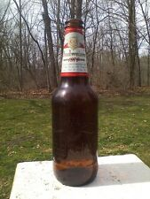 Budweiser Beer Bottle Bud 1876 Limited Edition Anheuser Embossed Glass 1990s