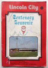 Lincoln City Multi Signed 1984 Centenary Brochure Colin Murphy