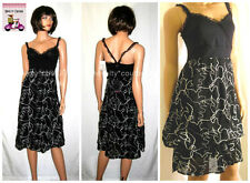 $265 New SAVE THE QUEEN Summer Cotton Black Dress L (large) #Italy *BIG SALE*