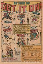 Marvel Super Hero T-Shirts & Sweatshirts Original 1976 Color Comic Book Ad
