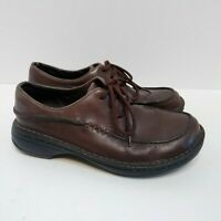 Merrell Tetra Lace Dark Brown Leather Lace-up Moc Toe Oxford Shoes Women's Sz. 8