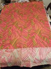 Vintage 60's-70's mod psychedelic bright fabric 2.7 yds impression bangu