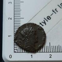 H04203 monnaie romaine antoninien de gallien mars le pacificateur 265-267 ric236