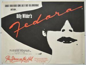 FEDORA (1979) Original Cinema Quad Movie Poster - Billy Wilder, Marthe Keller