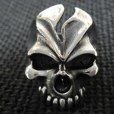 Live to Ride Silver SKULL Ring for Harley Davidson 1% ER Outlaw Motor Biker TR89