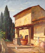 Eliot Candee Clark 1883 - 1980  Italian Winery Listed  American Impressionist