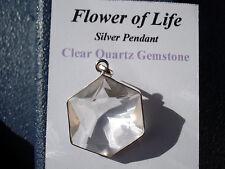 Crystal Clear Quartz Flower of Life Pendant-Harmonizes, Balances all Energy*