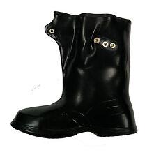 "Herco Waterproof Made in USA 10"" Adjustable Rubber Overshoe Boots"