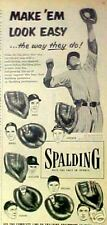 1954 Phil Rizzuto~Bill Dickey,New York Yankees Baseball Spalding Glove Promo AD