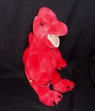 "16"" Build A Bear Red Dinosaur Dino Brachiosaurus Stuffed Animal Plush Toy Babw"
