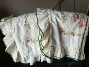 DORMA CREAM FLORAL - COUNTRY COTTAGE STYLE - VINTAGE PILLOW CASES X 4