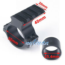 """1"""" 25.4mm/30mm Ring With 20mm weaver Picatinny Rail Mount For Rifle Scope Sight"""