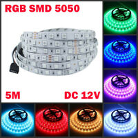 5M 10M 15M 20M RGB SMD 5050 Waterproof LED Flexible 3M Tape Strip Light DC12V US