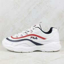 Mens Fila Ray Low White/Red Trainers (PEF3) RRP £79.99