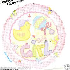 "18"" FOIL BALLOON  NEW BABY GIRL BABY SHOWER BIRTH"