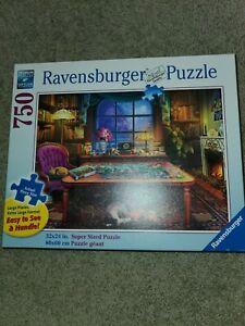 """Ravensburger """"Puzzler's Place"""" 750 Piece Puzzle  Large Piece Format complete"""